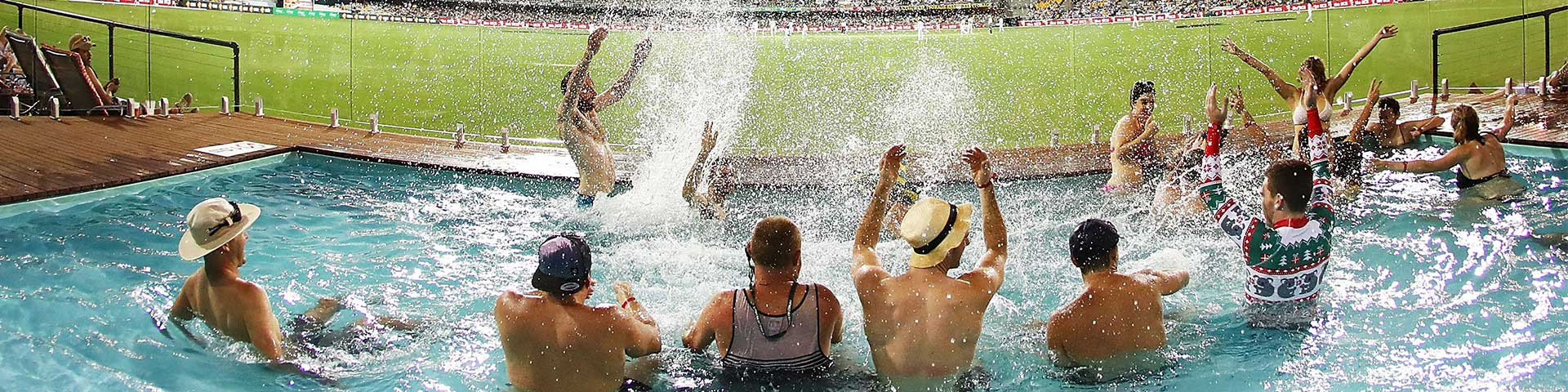 Pool for the Cricket at The Gabba