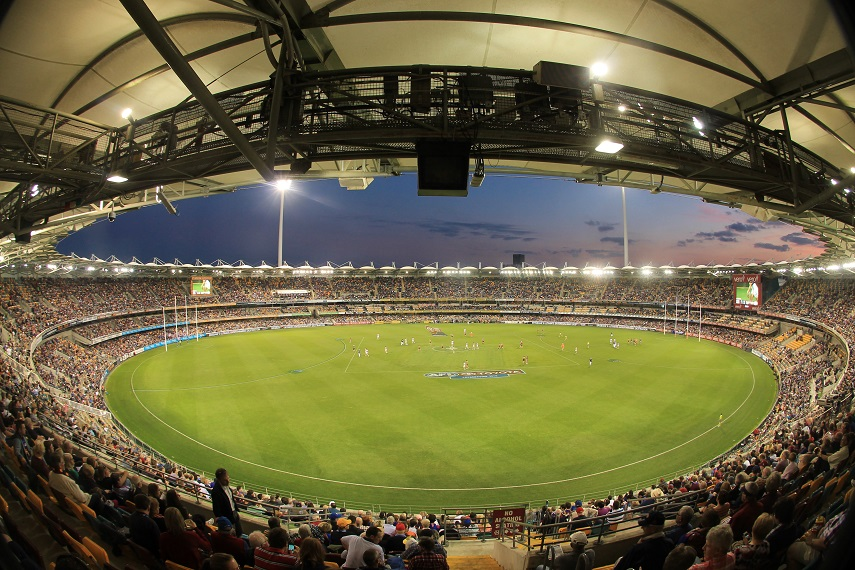 Brisbane Lions play at The Gabba (Stadiums Queensland Venue)